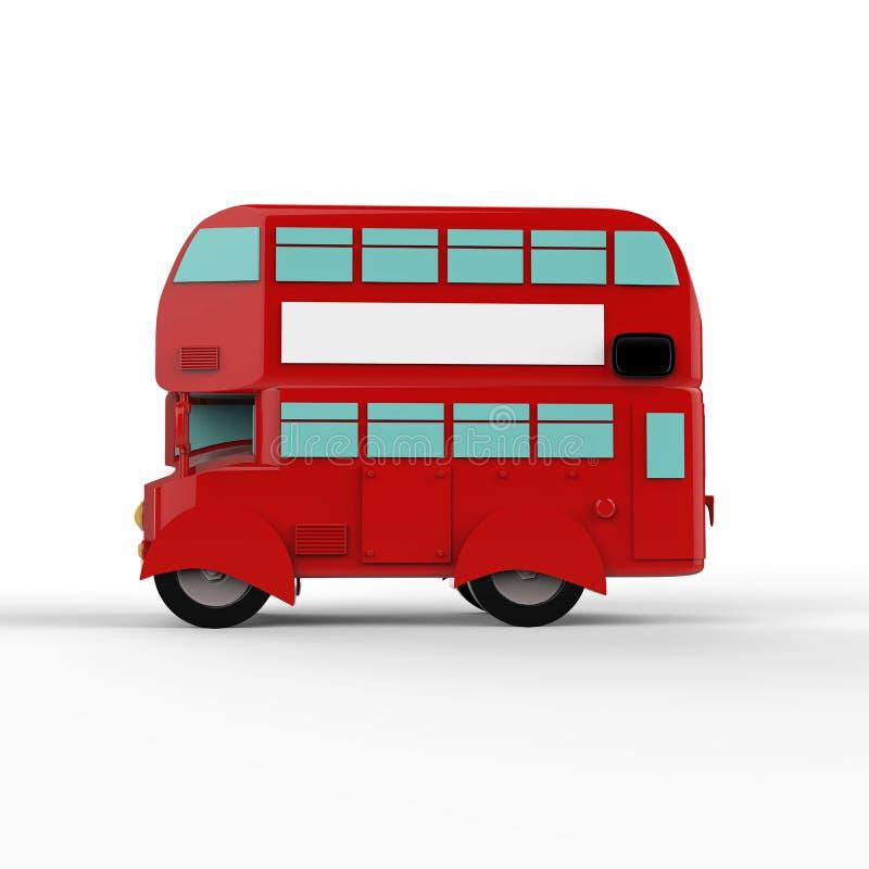 Röd buss för modelondon doubledecker 3d framför vektor illustrationer