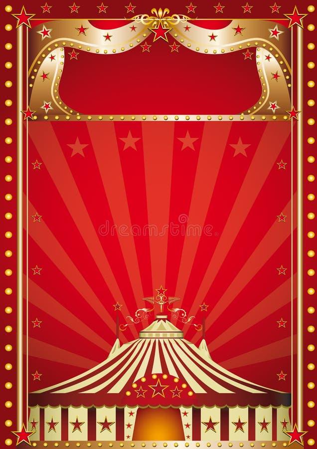Röd cirkus. stock illustrationer