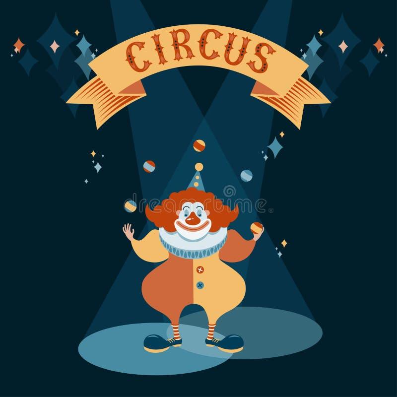 Röd clown royaltyfri illustrationer