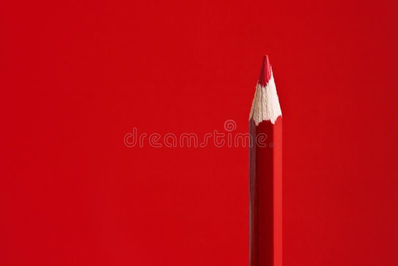 Röd Crayon arkivfoto