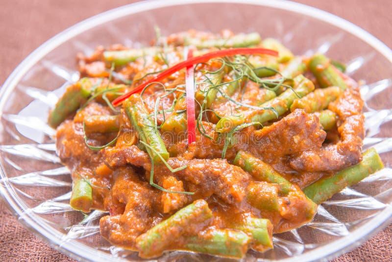 Röd curry med griskött royaltyfri bild