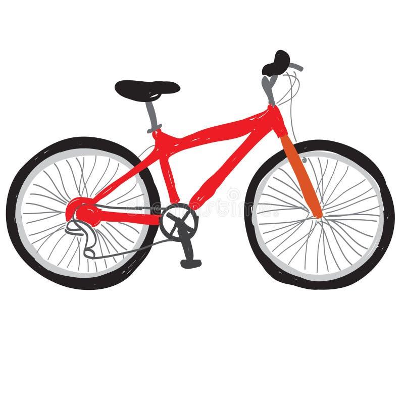 Röd cykel royaltyfria foton
