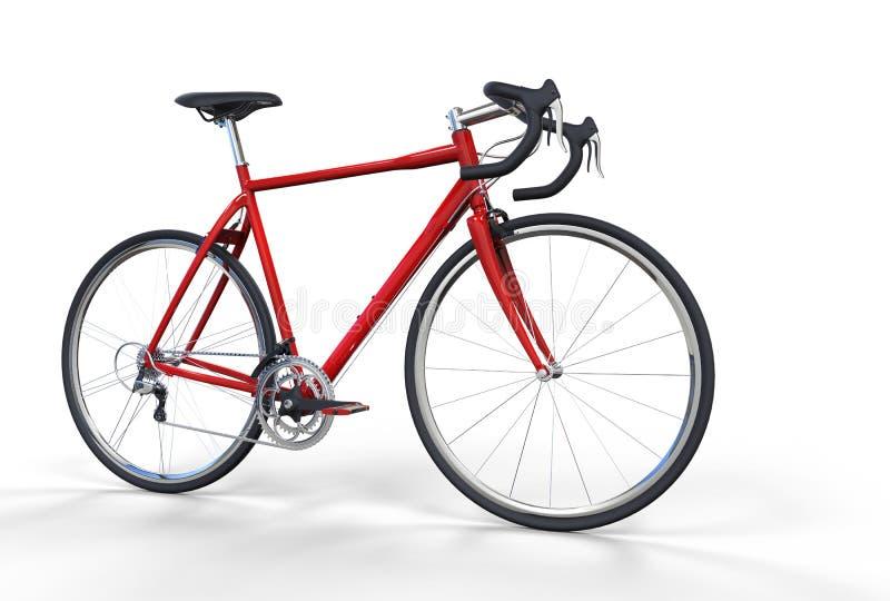Röd cykel royaltyfri illustrationer