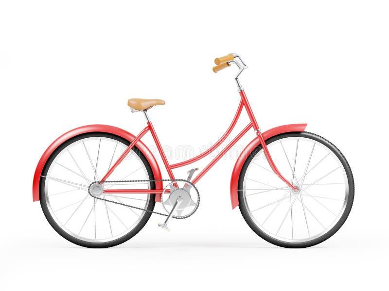 Röd cykeltappning royaltyfri illustrationer