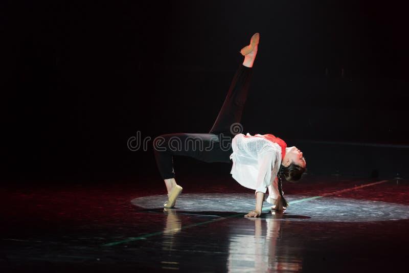 Röd dansdrama för halsduk 16-Lilac royaltyfria foton