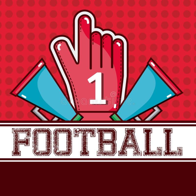 Röd design för amerikansk fotboll royaltyfri illustrationer