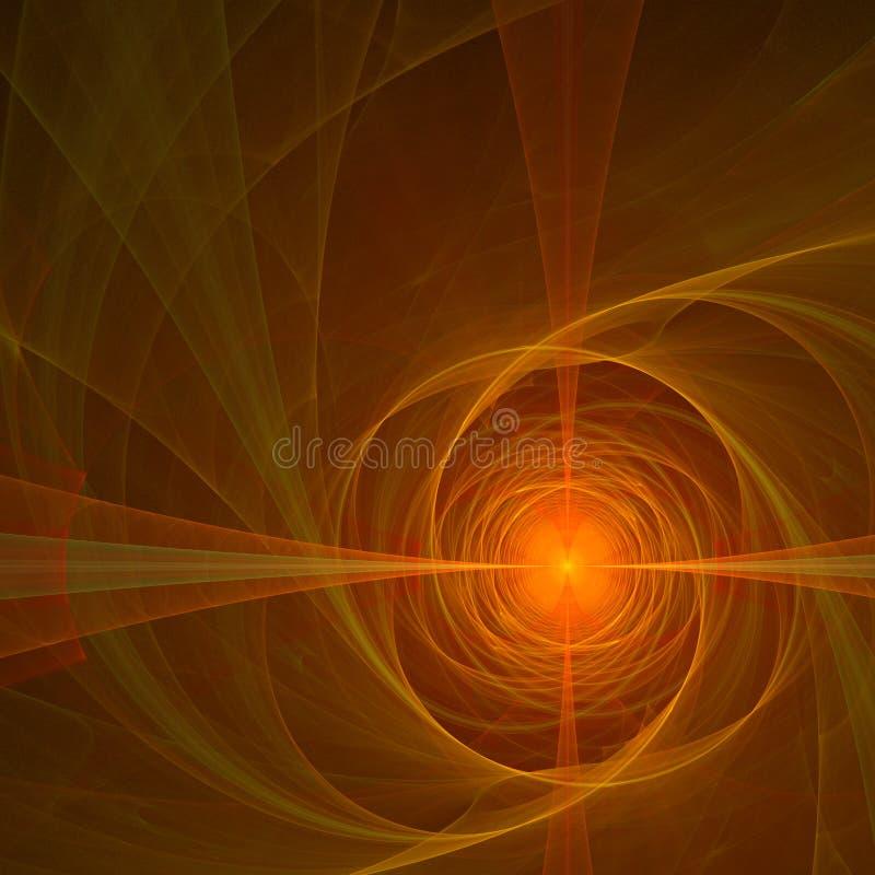 Röd design för apelsinabstrakt begreppfractal stock illustrationer