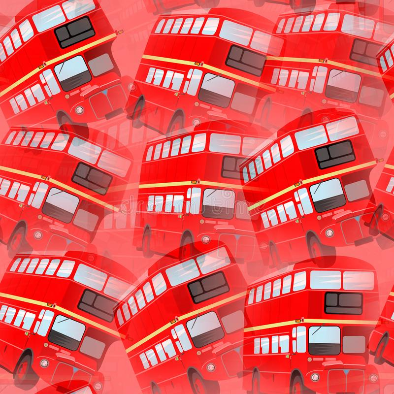 Röd design för London bussbakgrund royaltyfri illustrationer
