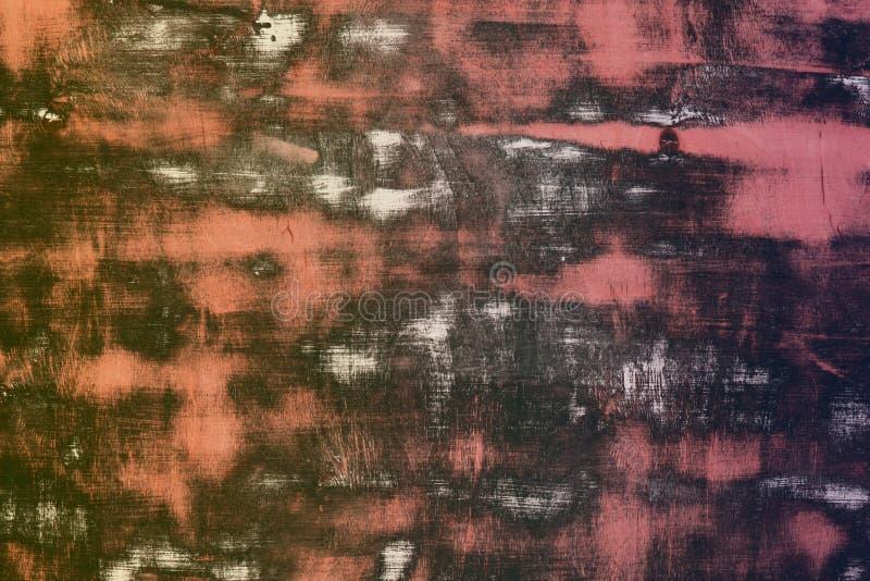 Röd designplanka med enorm gjord klar fläcktextur - nätt abstrakt fotobakgrund fotografering för bildbyråer