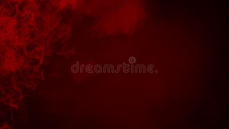 Röd dimma eller att röka isolerad specialeffekt på golvet r?d molnighet-, mist- eller smogbakgrund royaltyfri illustrationer