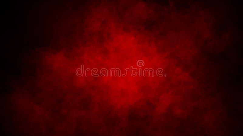 Röd dimma eller att röka isolerad specialeffekt på golvet r?d molnighet-, mist- eller smogbakgrund stock illustrationer