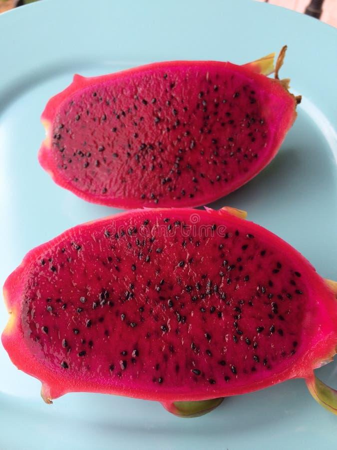 Röd drakefrukt royaltyfri fotografi