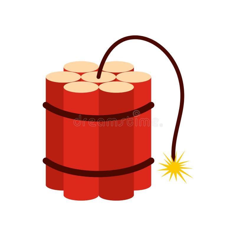 Röd dynamit klibbar symbolen royaltyfri illustrationer
