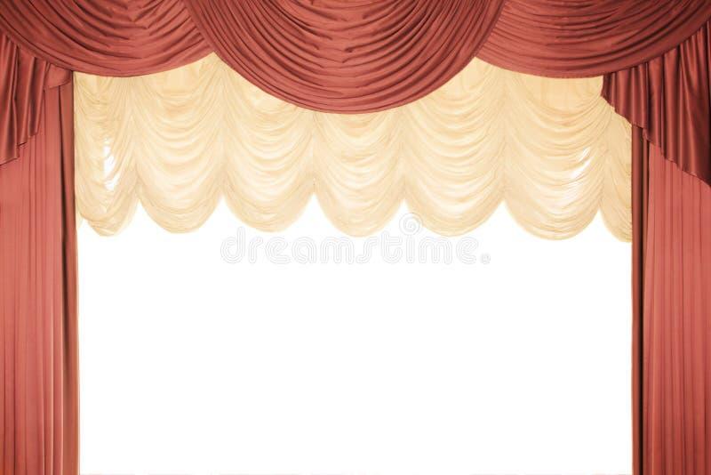 röd etapptull för gardin royaltyfri bild