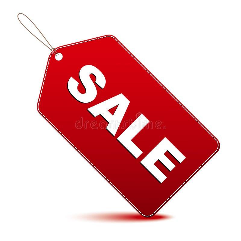 Röd försäljningsetikett stock illustrationer
