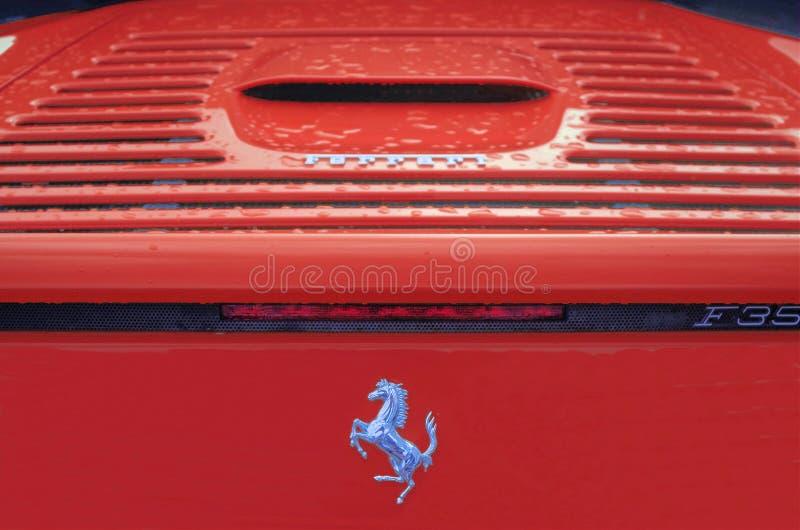 Röd Ferrari F35 ponny royaltyfria foton