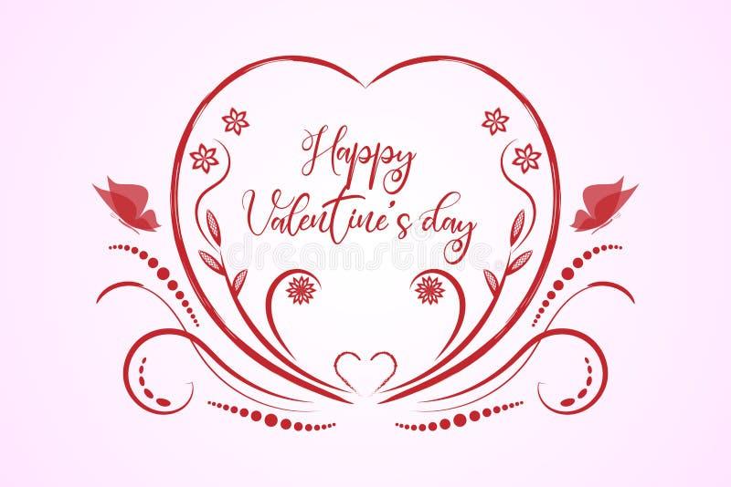 Röd festlig prydnad för valentindag på vit bakgrund vektor illustrationer