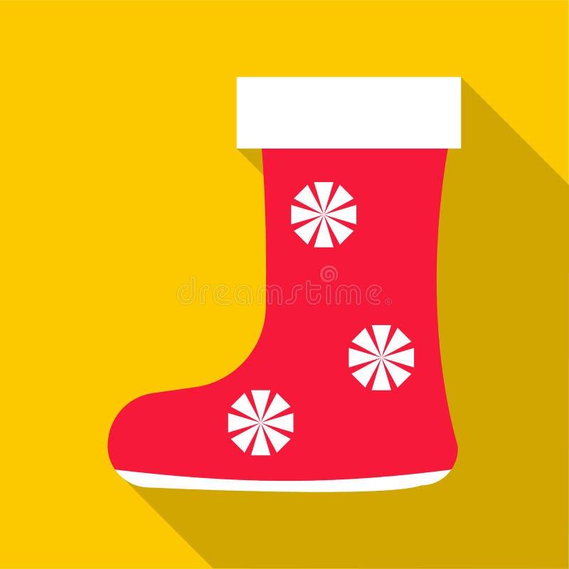 Röd filt startar symbolen, lägenhetstil royaltyfri illustrationer