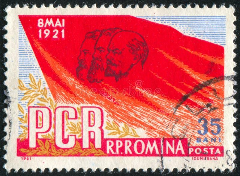 Röd flagga royaltyfri foto