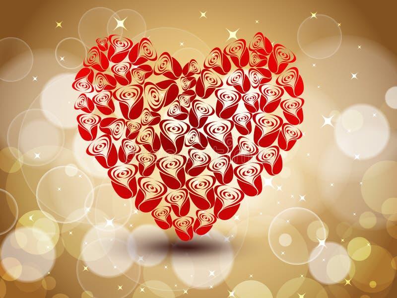 röd form för hjärta som sparkling stock illustrationer