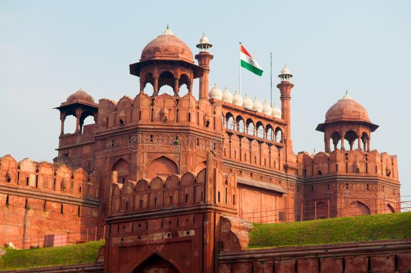 Röd Fort Indien royaltyfri foto