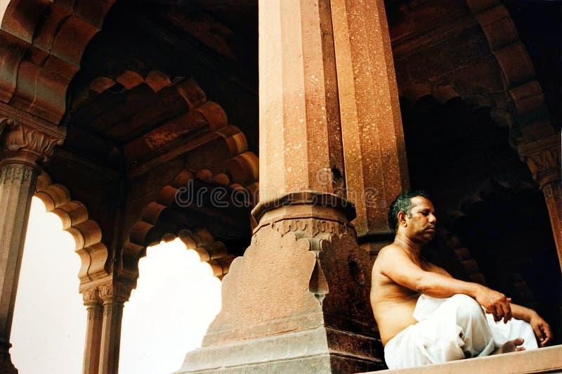 Röd Fort - New Delhi - Indien royaltyfri foto