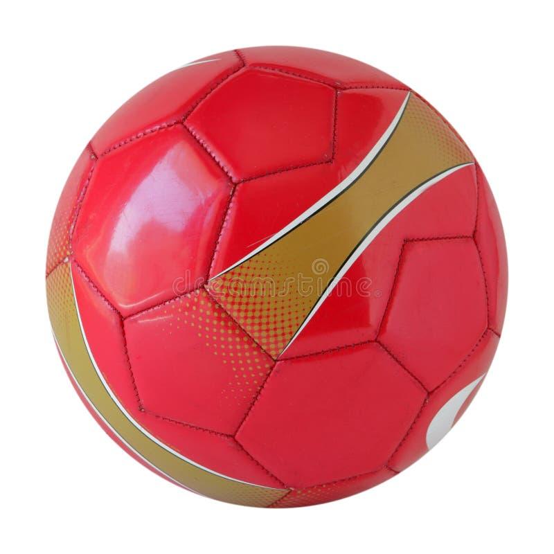 Röd fotbollboll royaltyfri foto