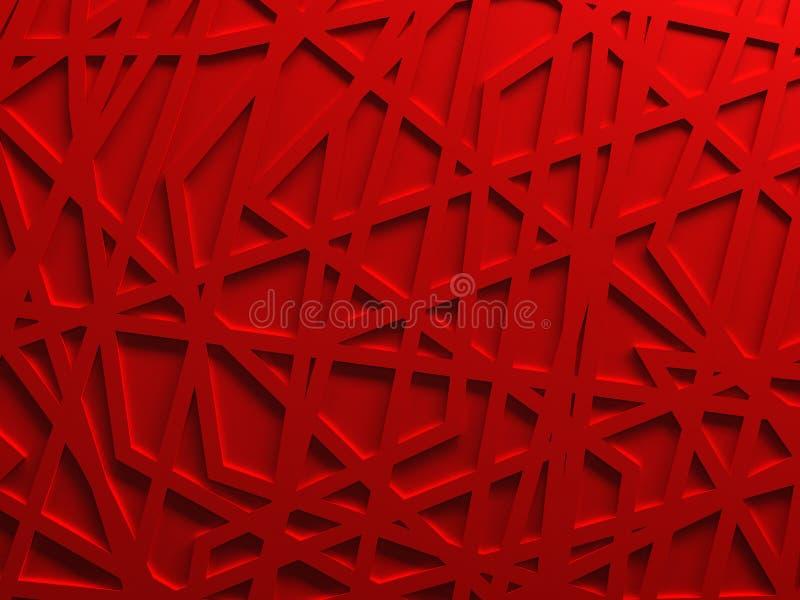 Röd framförd kaosingreppsbakgrund fotografering för bildbyråer