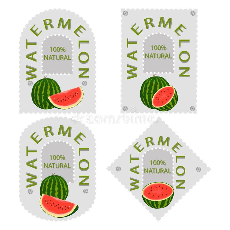 Röd fruktvattenmelon stock illustrationer