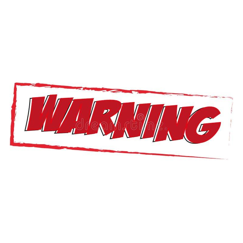 Download Röd fyrkant för varning stock illustrationer. Illustration av gradbeteckning - 78726111