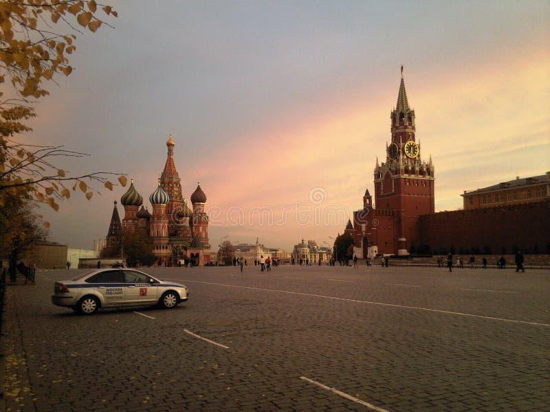 Röd fyrkant-hjärta av Moskva royaltyfri fotografi