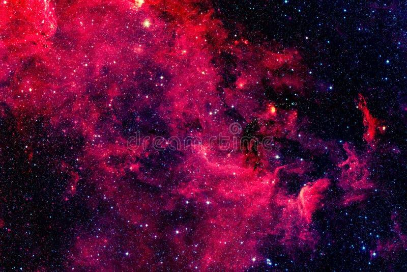 Röd galax Beståndsdelar av denna avbildar möblerat av NASA royaltyfri bild