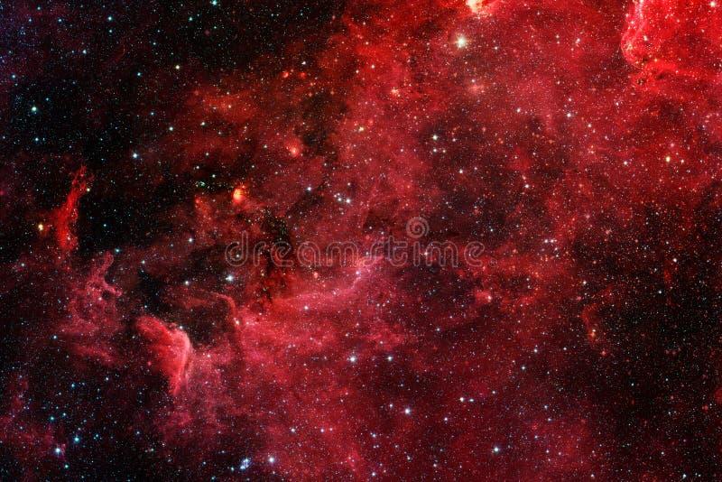 Röd galax Beståndsdelar av denna avbildar möblerat av NASA arkivfoto