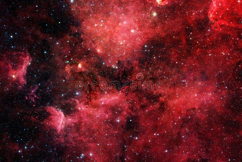 Röd galax Beståndsdelar av denna avbildar möblerat av NASA arkivbild