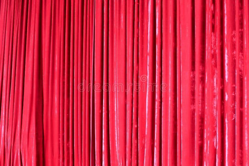 Röd gardin royaltyfri foto