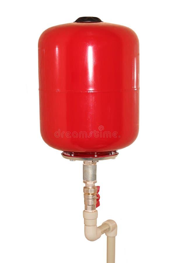 Röd gasbehållare royaltyfria bilder