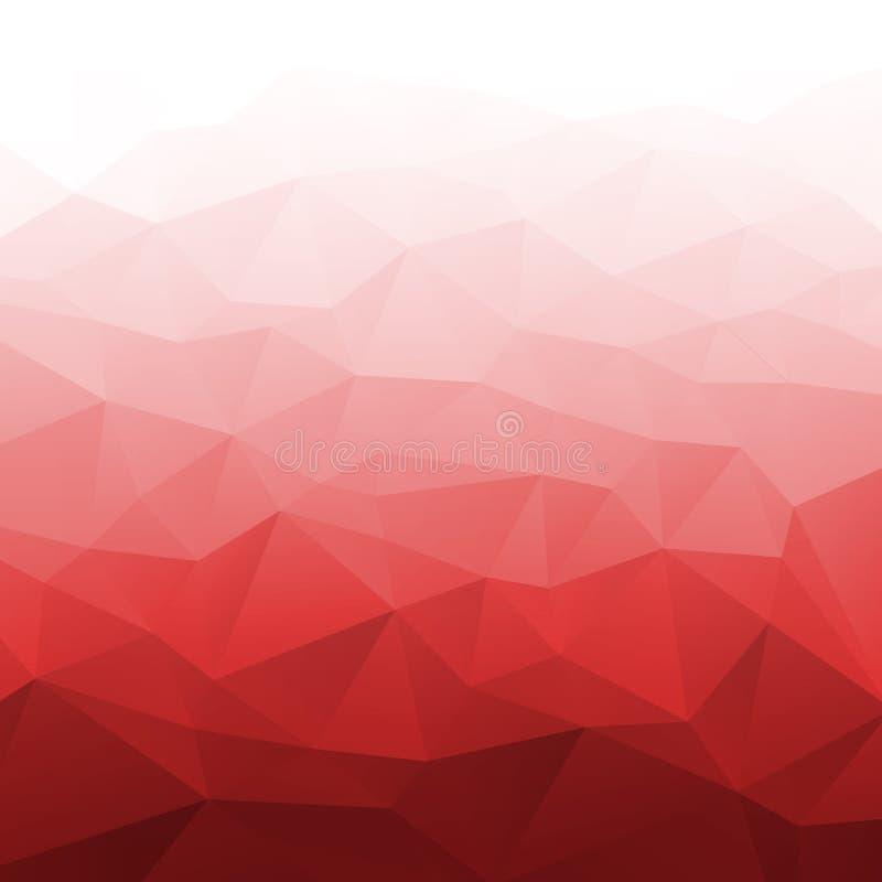 Röd geometrisk bakgrund för abstrakt lutning vektor illustrationer