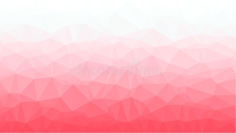 Röd geometrisk bakgrund med triangulära polygoner Abstrakt design också vektor för coreldrawillustration royaltyfri fotografi