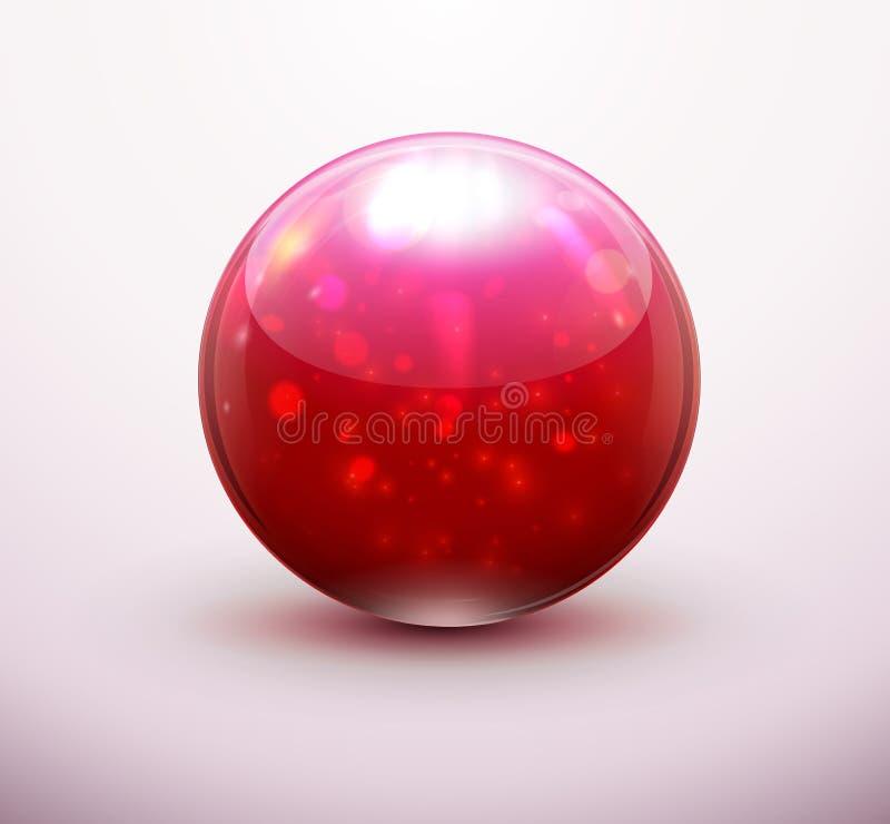 Download Röd glass marmor vektor illustrationer. Illustration av reflexion - 27288021
