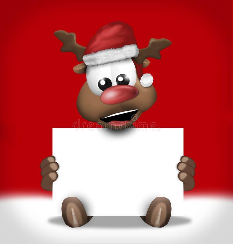 Röd grafisk design för glad jul royaltyfri illustrationer