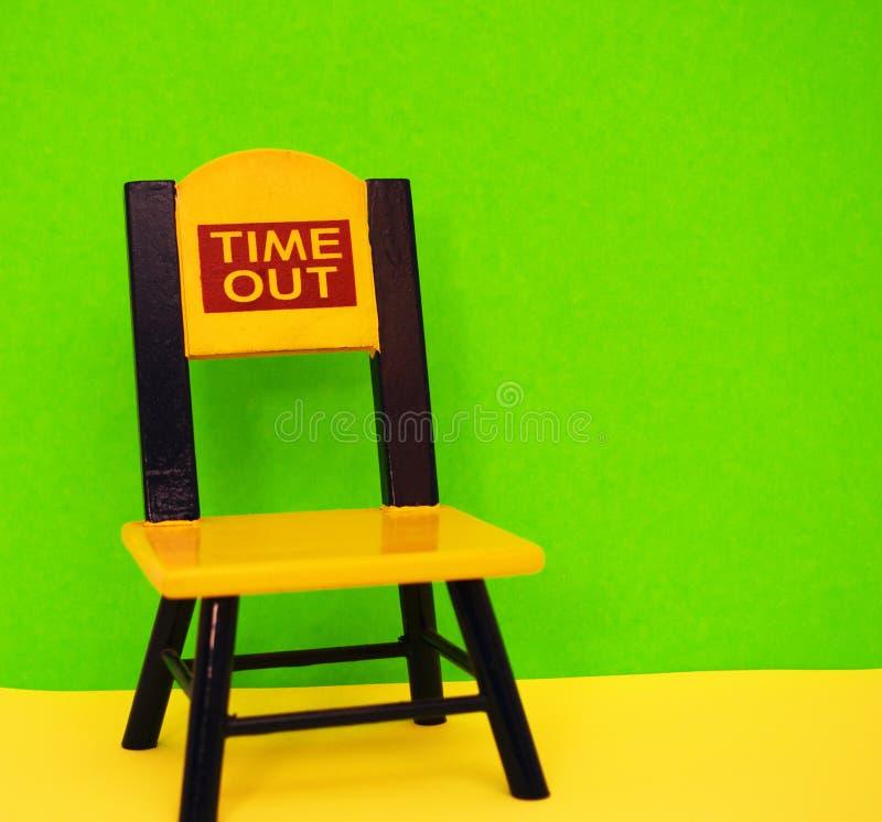Röd gul blå grön Time Outstol för limefrukt royaltyfri foto