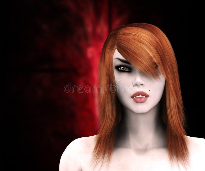 Röd haired häxa vektor illustrationer