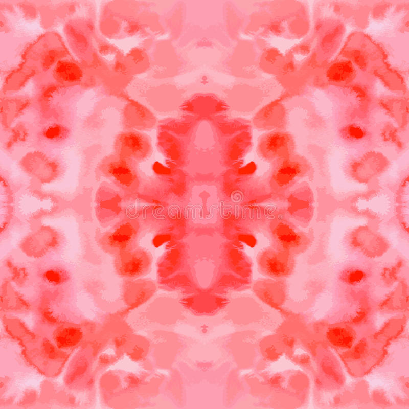 Röd hand-dragen sömlös modelltegelplatta för vektor vattenfärg royaltyfri illustrationer