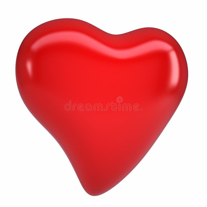 Röd hjärta stock illustrationer