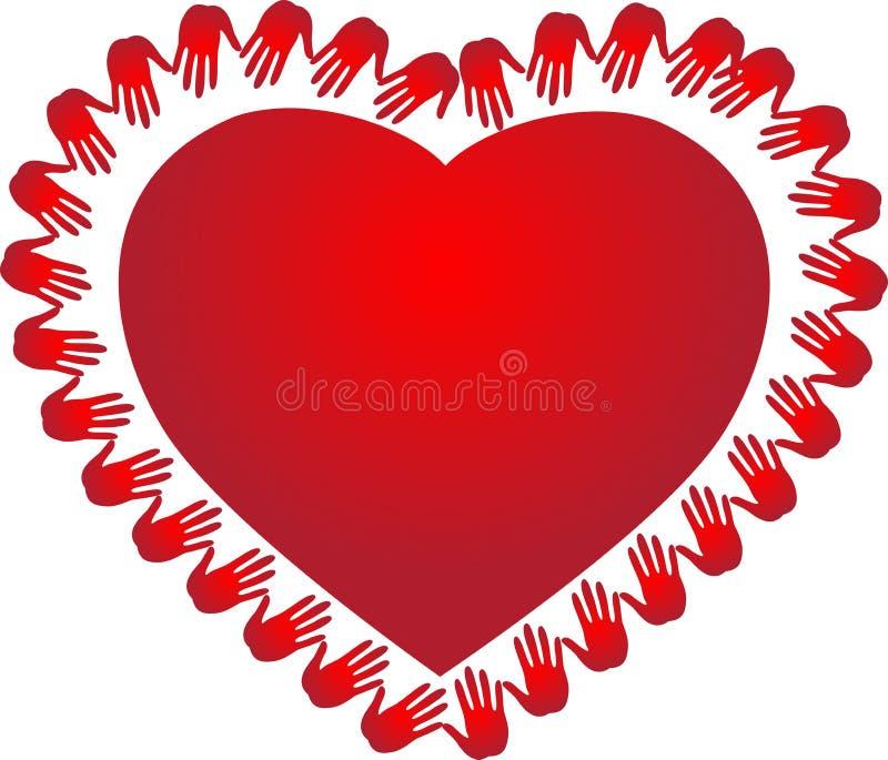 Röd hjärta vektor illustrationer