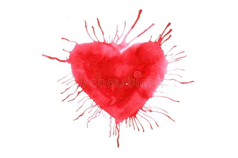 Röd hjärta royaltyfri illustrationer