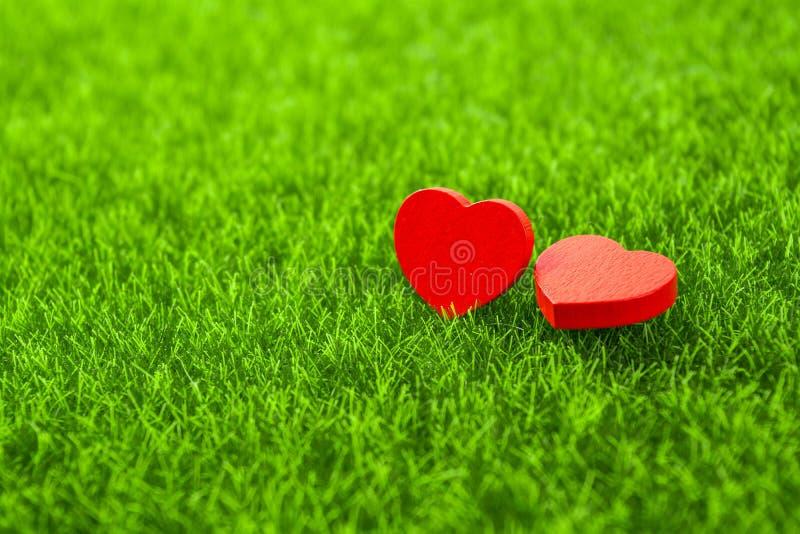 Röd hjärta för släp arkivbilder