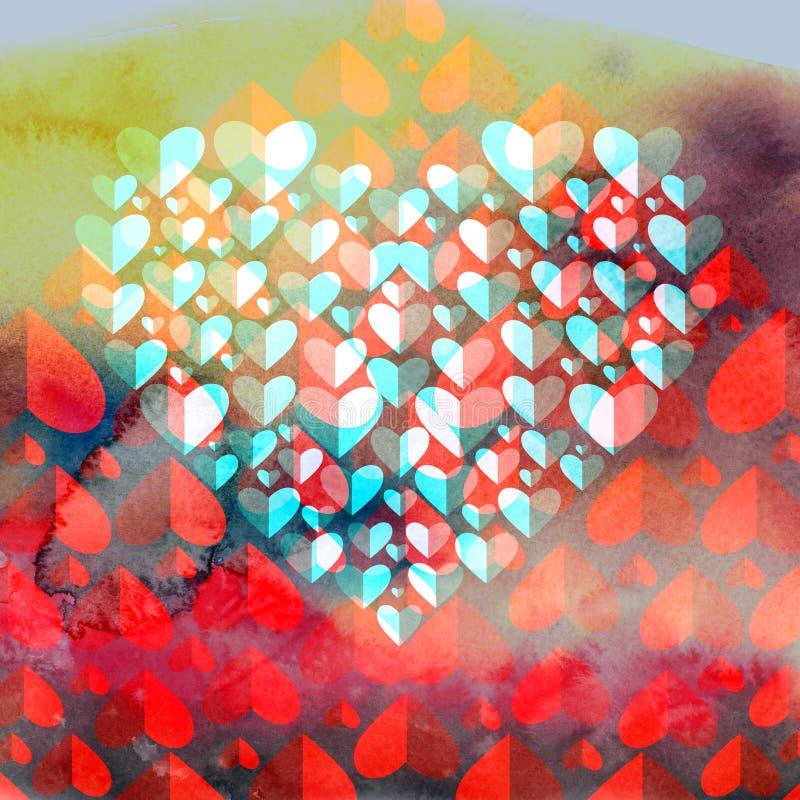 Röd hjärta för vänner royaltyfri illustrationer