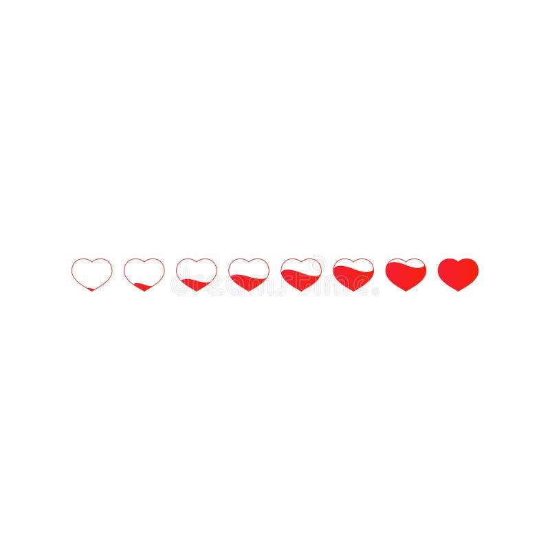 Röd hjärtalinje stock illustrationer