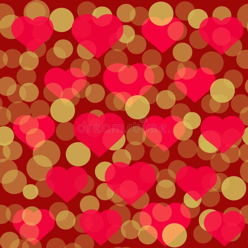 Röd hjärtamodell för design för Valentine Day hälsningkort Romantisk illustration för valentindag vektor illustrationer